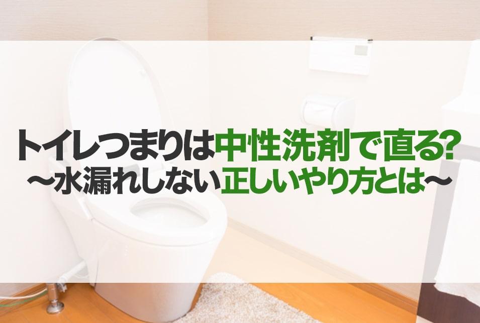 つまり トイレ 洗剤 の